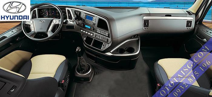 Nội thất xe ben tự đổ Hyundai Xcient 12 tấn 3 chân nhập khẩu giá rẻ-ototaisg.com