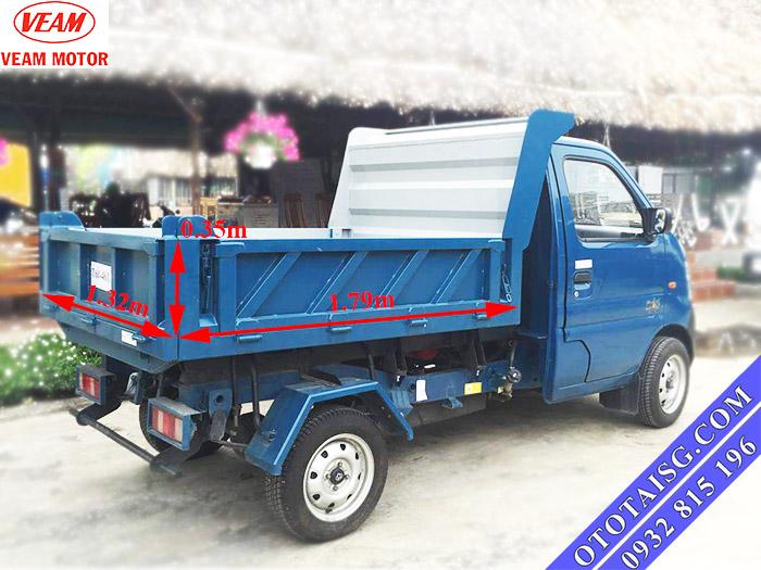 Veam Star Ben 650Kg có kích thướt thùng lớn thuận lợi cho việc vận chuyển nhiều hơn-ototaisg.com