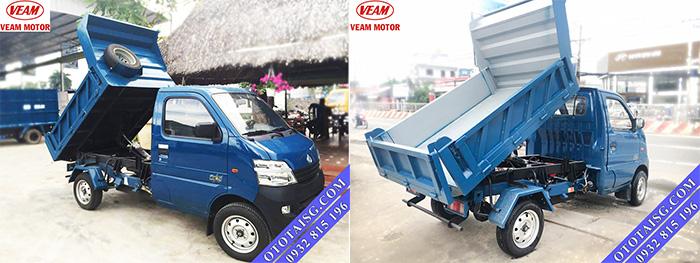 Xe ben tự đổ Veam Star 650kg giá rẻ có xe ngay-ototaisg.com