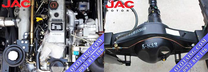 Jac 2t4 sở hữu khối động cơ theo công nghệ sản xuất và chất lượng Isuzu vô cùng bền, mạnh mẽ và cực kỳ tiết kiệm nhiên liệu-ototaisg.com