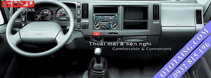 Isuzu QKR55H có thiết kế cabin hiện đại, nội thất tiện nghi, chắc chắn và bền bỉ, hỗ trợ mua xe Isuzu 1.9 tấn trả góp-ototaisg.com